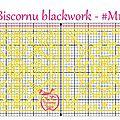 Grille biscornu blackwork #m15