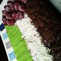 Ultra moelleux au chocolat aux couleurs de la palestinne