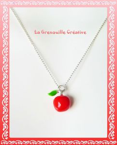 Collier pomme rouge (3)