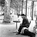 Jacques Prevert, Paris, Robert Doisneau, 1955