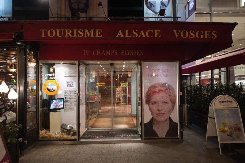 Portrait(s) de Femme(s) Vitrine Champs Elysées © ÉVEIL AU MAQUILLAGE ®