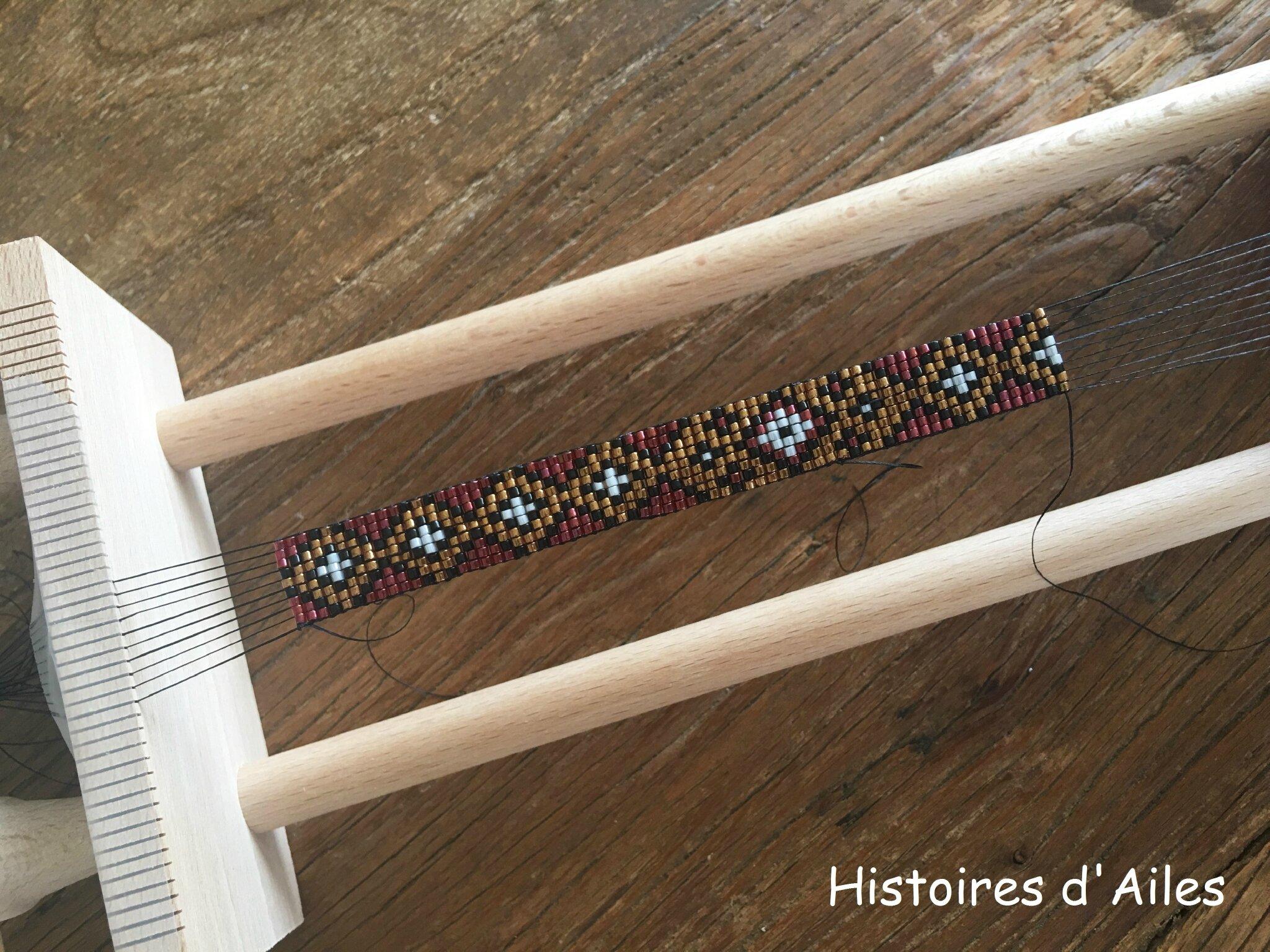 Gut bekannt Bracelet tissé perles aux couleurs d'automne - Histoires d'Ailes VH47