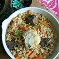 Plov (riz pilaf d'ouzbékistan)