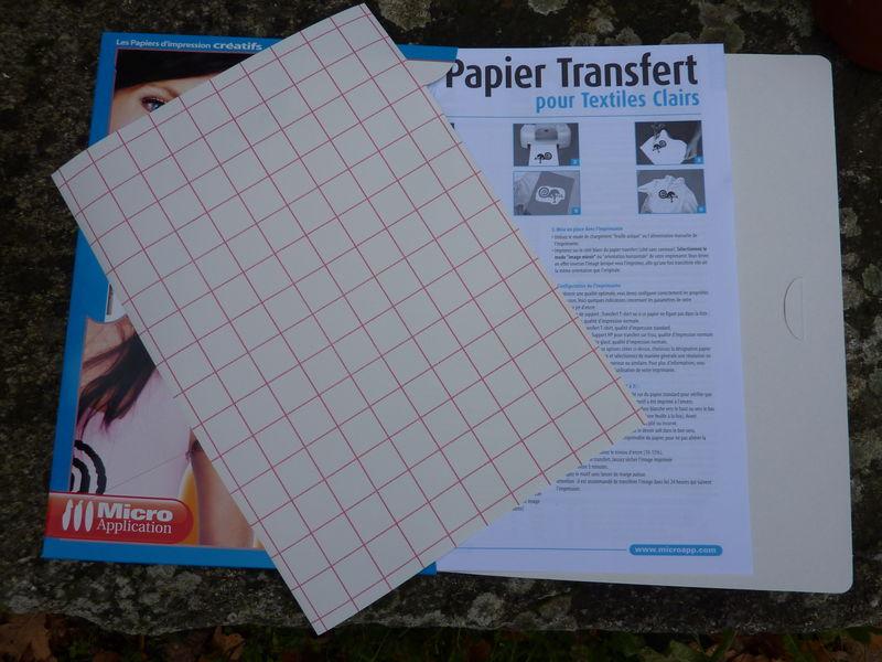Tuto transfert b no cr ations textiles - Papier transfert pour textile ...