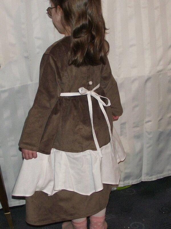 Robe Rachel Farbenmix velours marron 6