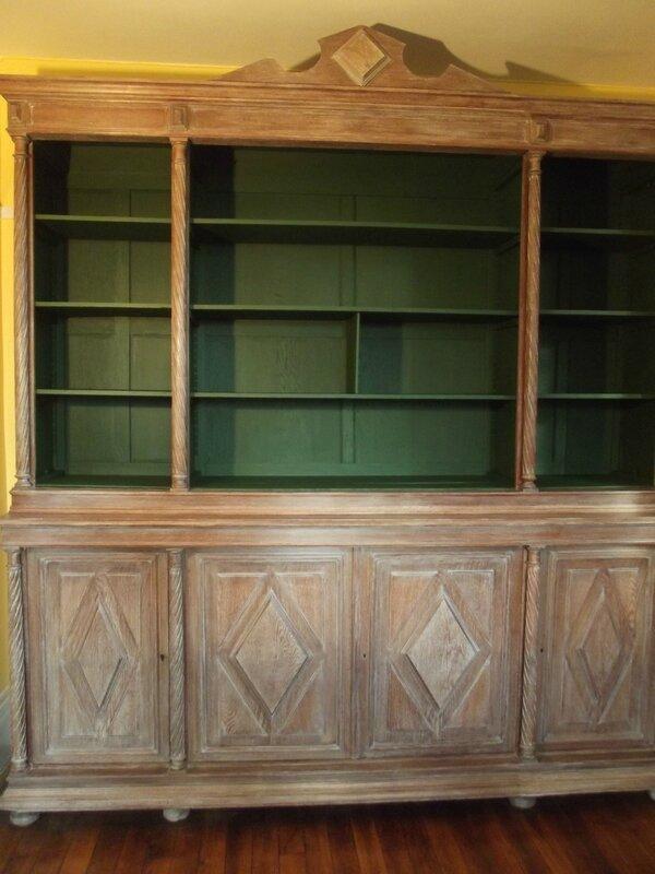 grande biblioth que faite en c ruse patine relooking stage sur meuble 78. Black Bedroom Furniture Sets. Home Design Ideas