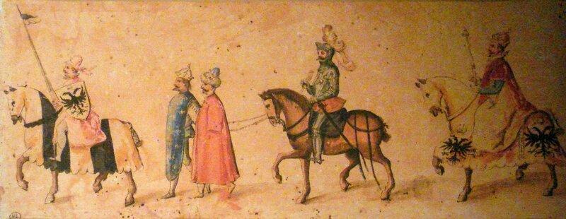 peinture montrant françois 1er & le roi des turcs prit par les autres pays de l'europe( rien de nouveau )
