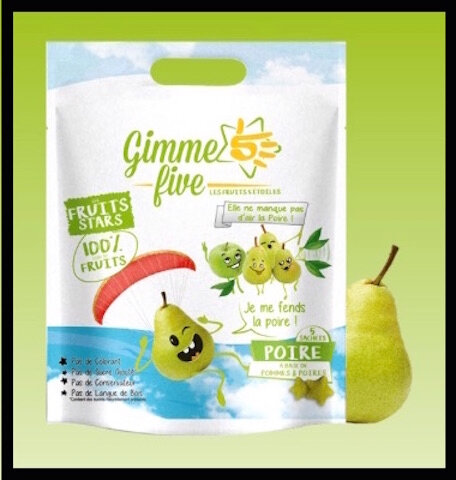 gimme five fruits stars poire