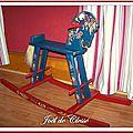 Cheval bascule bois peint 100x66x35cm