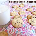 Biscuits choco-cacahuètes