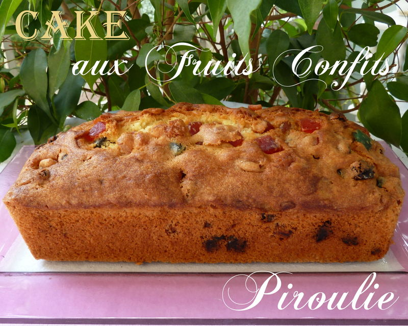 Gateau miel fruits confits