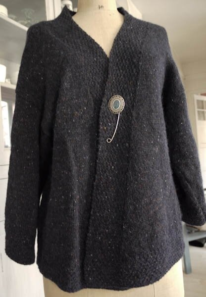 Gilet en felted tweed par Florence