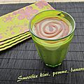 Smoothie kiwi, pomme et banane