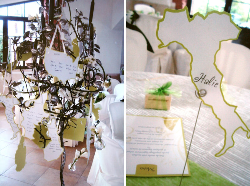 decoration table mariage theme voyage