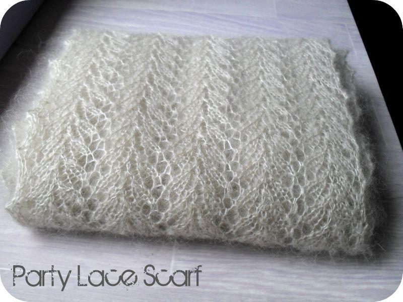 tricoter une echarpe en mohair. Black Bedroom Furniture Sets. Home Design Ideas