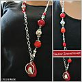 Collage collier rouge (Cl36)