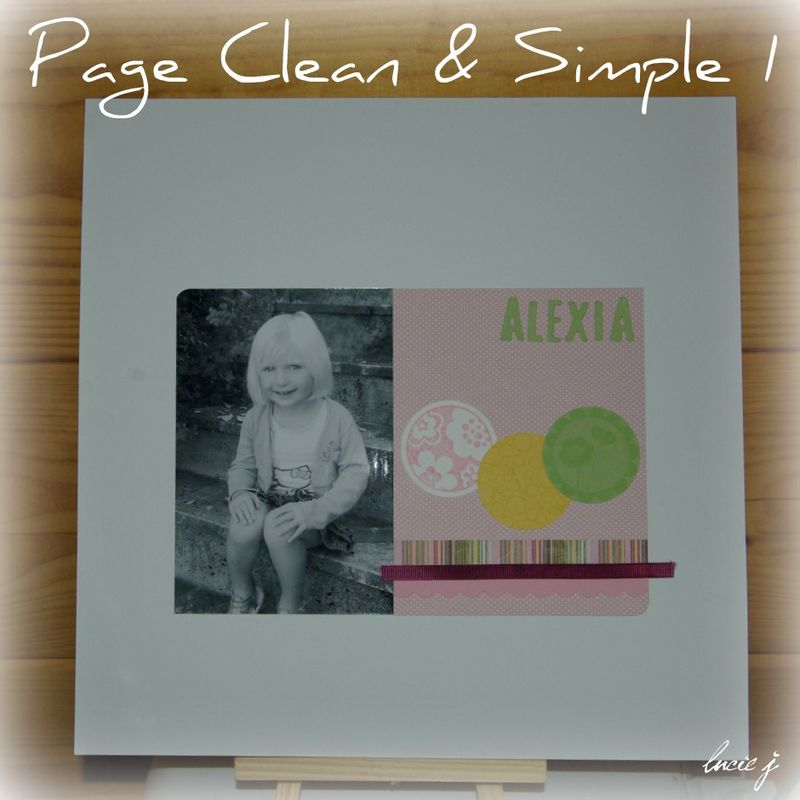 Page 30x30 Clean & Simple 1