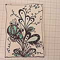 Zentangle fleur imaginaire