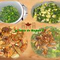 Potage poireaux, cèpes et kiri
