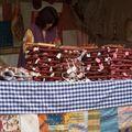 Santo Domingo de la Calzada-marché médiéval Stand de charcuterie