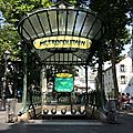 Paris, Abbesses, métro
