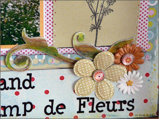 Dans un grand champ de fleurs détail 2