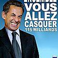 Sarkothon : 115 milliards demandés aux français !