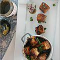 Tofu au poivre noir, échalotes & oignons verts