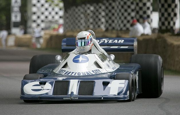 r union de f1 tyrrell six roues goodwood 2012 cpa g n ration automobile. Black Bedroom Furniture Sets. Home Design Ideas