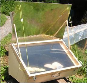 Les cuiseurs solaires cuiseur solaire parabolique le for Miroir solaire parabolique