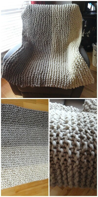 Gradient blanket throw