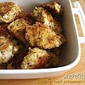 Nuggets de poulet au parmesan et au thym