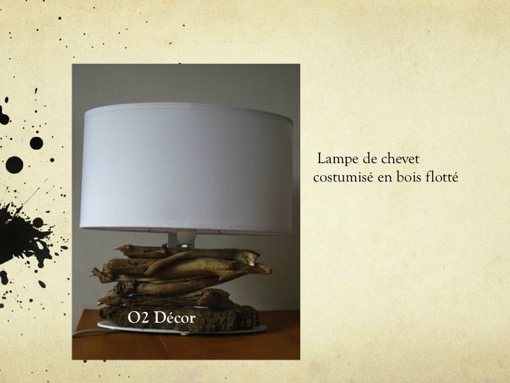 lampe de chevet photo de d co r cup en bois flott 02 d cor r cup. Black Bedroom Furniture Sets. Home Design Ideas