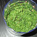 Pesto aux fanes de fenouil et aux feuilles de blettes