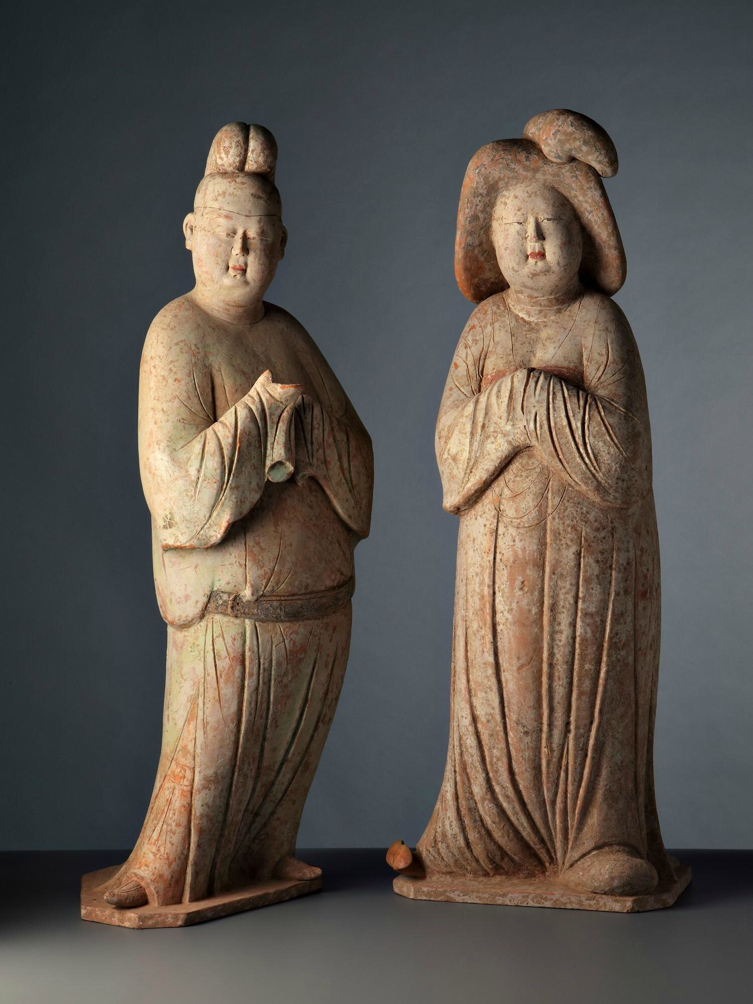 Court Lady and Man, China, Tang dynasty, 8th century