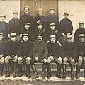 Caen, quartier Claude Decaen, groupe de pièce du 43e RAC, 1917
