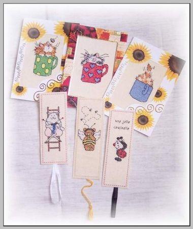 Cartes et marques pages - Mathilde - speudo Marfi2004 ( forum dmc)