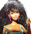 barbie:glitter hair noire