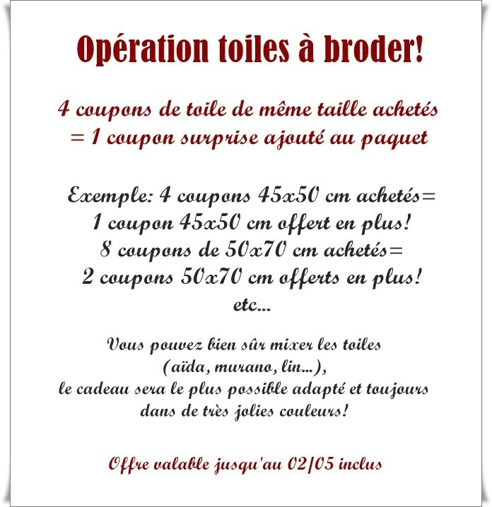 toiles à broder avril 2017
