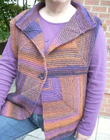 gilet ss manches violet 2