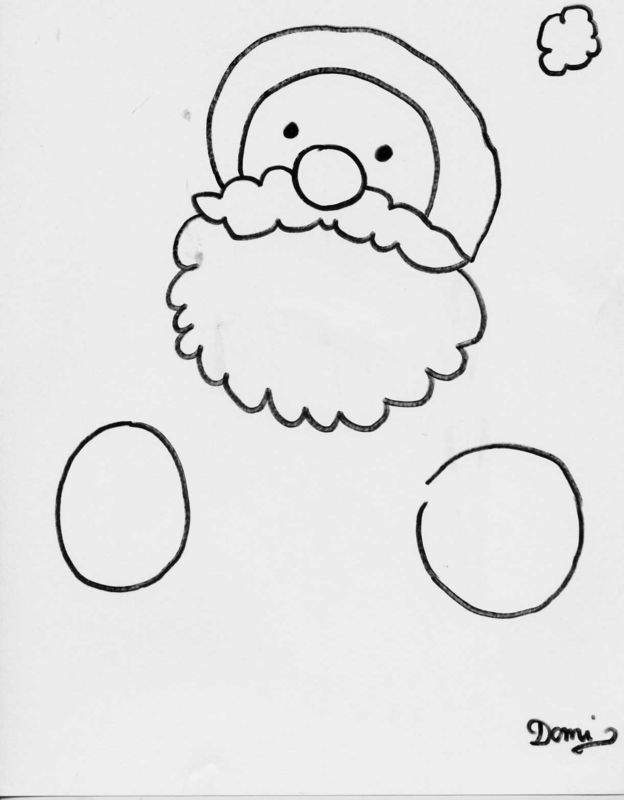 Bonnet de noel dessin simple - Dessin de noel facile a dessiner ...