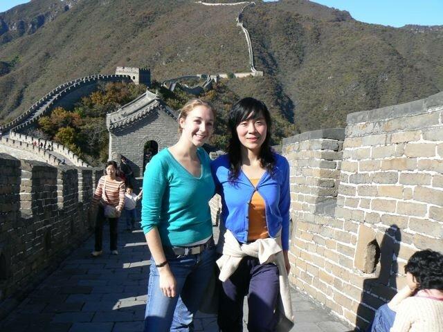 Nina et Olivia sur la Muraille de Chine