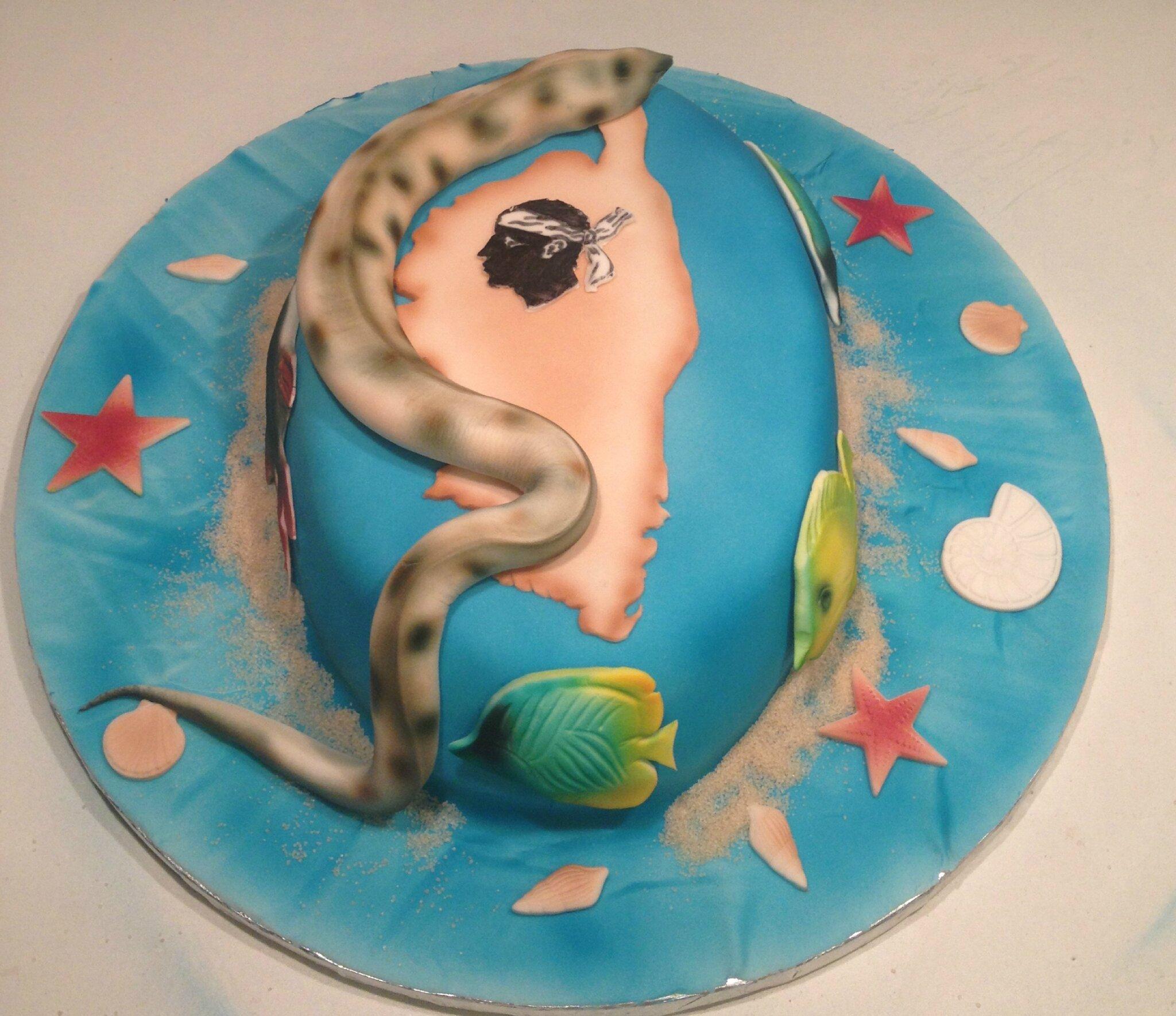 Gâteau Amitié sous marine en Corse