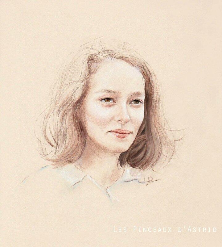 portrait enfant pastel personnalisé a5