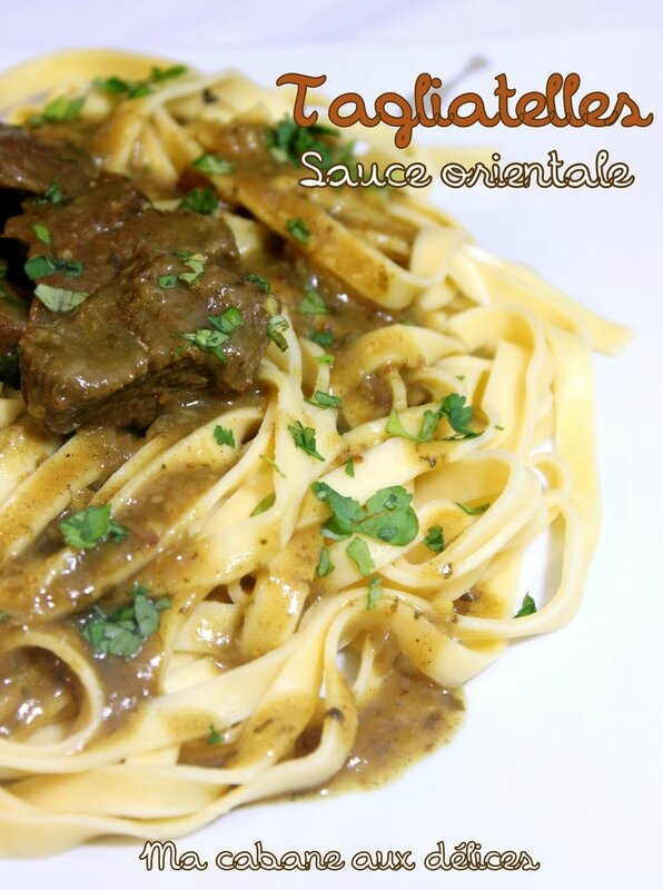 Tagliatelle sauce orientale photo 1