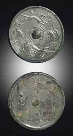 two_silvery_grey_bronze_circular_mirrors_tang_dynasty_d5418337h