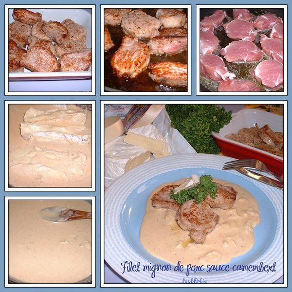 Filet mignon de porc sauce camembert