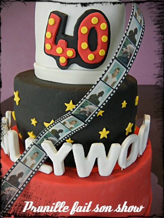 hollywood cake 40 ans prunillefee