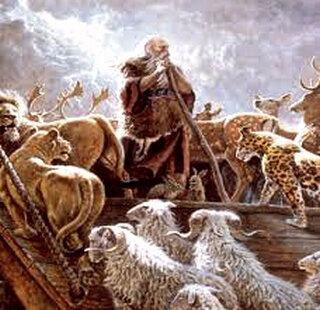 Noah-ni,-Arche-ab - de Noè - les animaux entourent