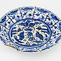 Plate. iran, 17th century, safavid period